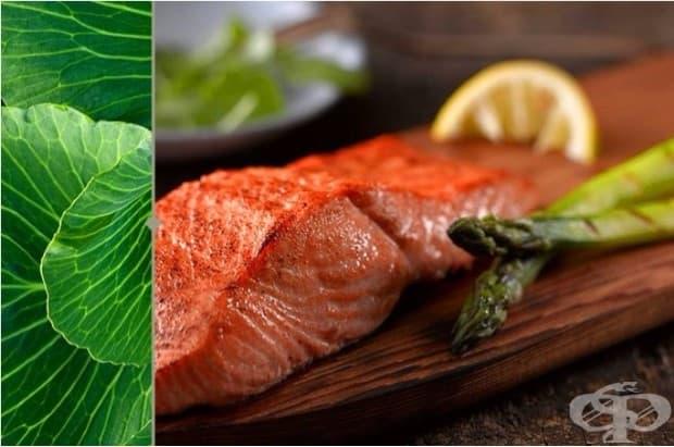 Витамин D и здравословни мазнини. Комбинирайте източници на здравословни мазнини със зеленчуци, които съдържат витамин D.