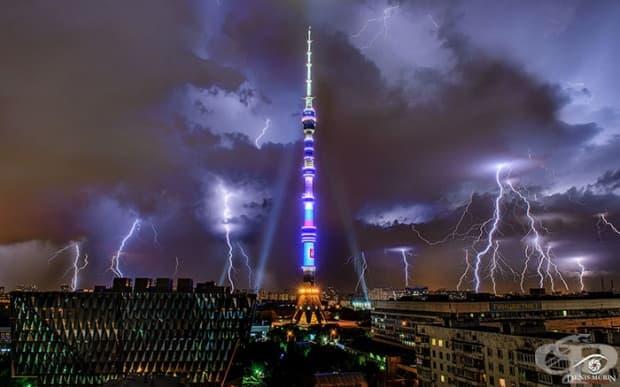 Предавателната кула Остакино, Москва, Русия