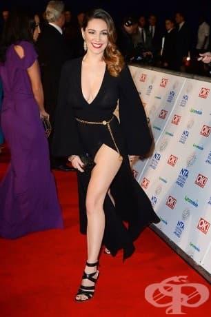 Кели Брук: Сечение 1.741; Златно сечение 92,9% ; Британският модел и актриса има по-пищно тяло от другите в този списък и е много близо до съвършенството.