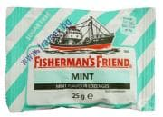 БОНБОНИ FISHERMAN'S FRIEND мента без захар 25 гр.