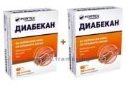 ДИАБЕКАН капс. 200 мг. * 30 ЗА ДИАБЕТИЦИ FORTEX - 1 + 1