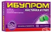 ИБУПРОМ НАСТИНКА И ГРИП таблетки 200 мг / 6,1 мг * 12
