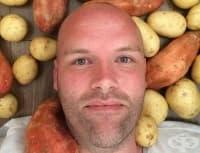 Мъжът, който свали 32 кг за 3 месеца с картофи (снимки)