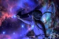 Художничка може да превърне всяка стая в космос, но за да видите нейната работа трябва да включите осветлението