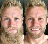 15 мъже показват колко много се променя визията на мъжа без брада