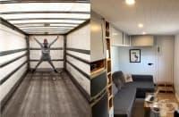 Млада двойка превръща стар камион в мобилен дом, който изглежда по-добре от много апартаменти