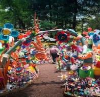 Цветен парк от 3 тона пластмасови отпадъци в Мексико