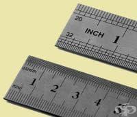 Таблица за измерване на дължината чрез метричната и имперска системи (сантиметър/инч)
