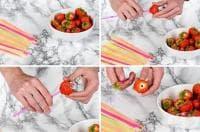 Лесен трик за почистване на ягодите