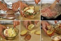 Пълнени картофи с кайма, зеленчуци и кашкавал