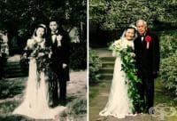 Очарователни 98-годишни китайци пресъздадоха сватбата си отпреди 70 години (снимки)