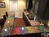 Този мъж събира капачки в продължение на 5 години, за да украси кухнята си. Вижте резултата!
