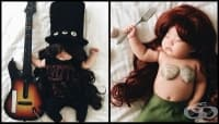 Това спящо бебе няма представа, че се превръща в костплей звезда по време на дрямка
