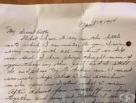 Писмо, зазидано в къща преди 60 години, пази тайната на една любов