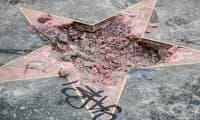 Разрушена е звездата на Доналд Тръмп в Холивуд