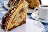 Торта с бананов йогурт и шоколад