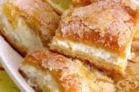 Сладкиш от бутер тесто с лимонов крем