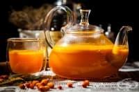 Цейлонски чай с облепиха и сладко от дюли