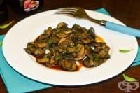 Пържени печурки в соев сос