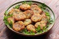 Картофени кюфтета с топено сирене и шунка