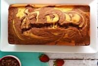 Кекс с рожков, портокалова кора, ванилия и кафе