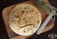 Бърз хляб с розмарин, масълце и маслини