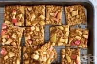Здравословни барчета с овесени ядки и ябълки