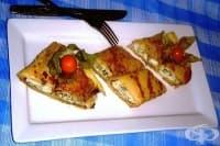 Запечени палачинки със сирене, извара и спанак