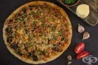 Пица със спанак, риба тон и моцарела