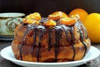 Сиропиран мраморен шоколадово-портокалов кекс