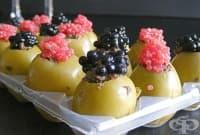 Пълнени маслини с хайвер и маслинова паста
