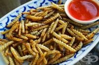 Пържени бамбукови червеи