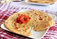 Пърленки с крема сирене и свежи подправки