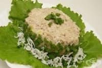 Рибена салата с яйца и ориз