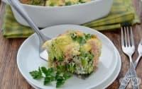 Запеканка от пъстърва с броколи и млечно-яйчена заливка с кашкавал