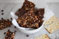 Шоколадови крекери от еврейски хляб маца