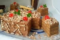 Канелена торта от бисквити с шоколад