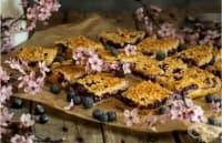 Боровинков сладкиш с овесени ядки и кокосови стърготини