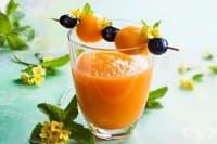 Смути от пъпеш с диня и портокалов сок