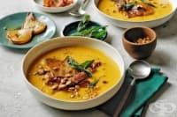 Сладка супа от тиква с круши