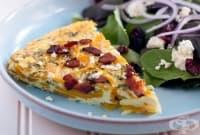Тиквен пай с бекон, яйца и сирене