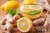 Тонизираща джинджифилова напитка с мента и лимон