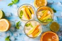 Цитрусов коктейл с ментов сироп и ром