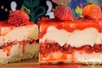 Чийзкейк с ягоди и бял шоколад (без печене)