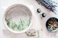 Премахнете акнето с парна баня от чаено дърво и босилек
