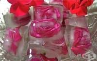 Как да си приготвите ледени кубчета с ядливи цветя?