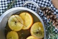 Ароматизирайте дома с портокал и клонки от ела