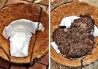 Използвайте памперс за овлажняване на почвата при висящи растения