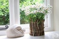 Направете си екологична украса на саксия от клонки и въже