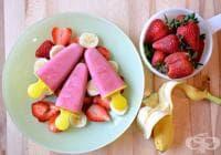 Направете здравословен сладолед за децата от ягоди и банани без захар и сметана